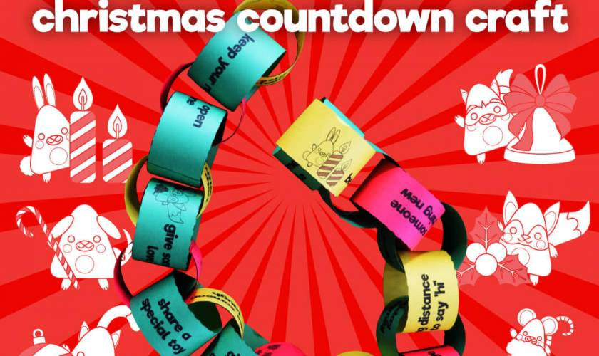 christmas kindness countdown craft