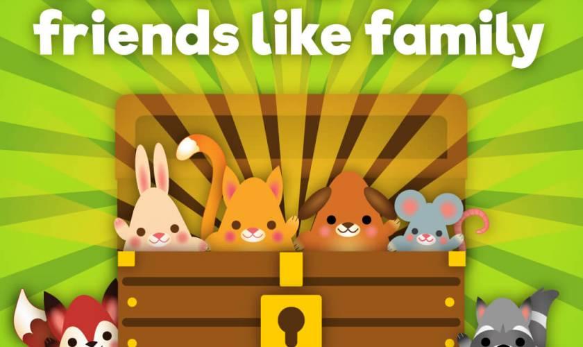 TREASURE friends like family